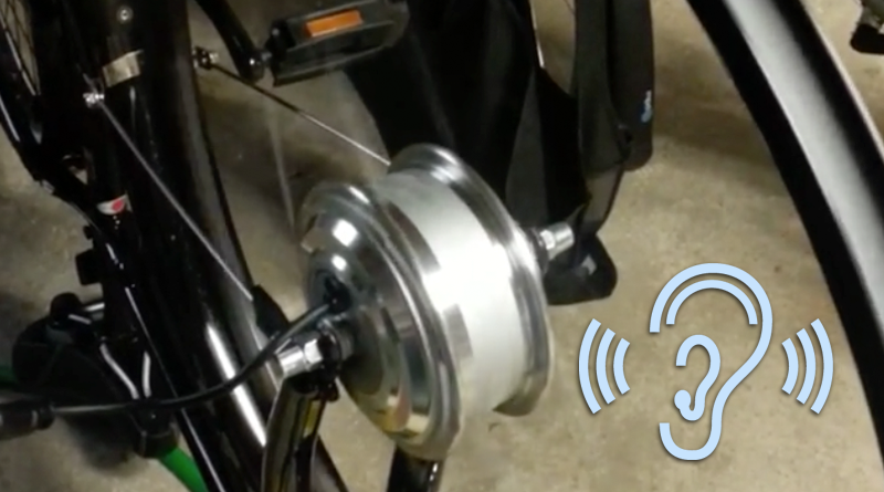 electric bike motor is making funny sound
