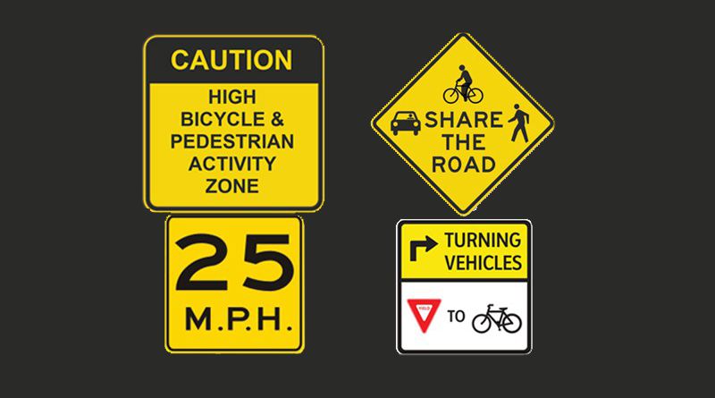 bicycle street signs
