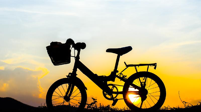 electric bike sunset