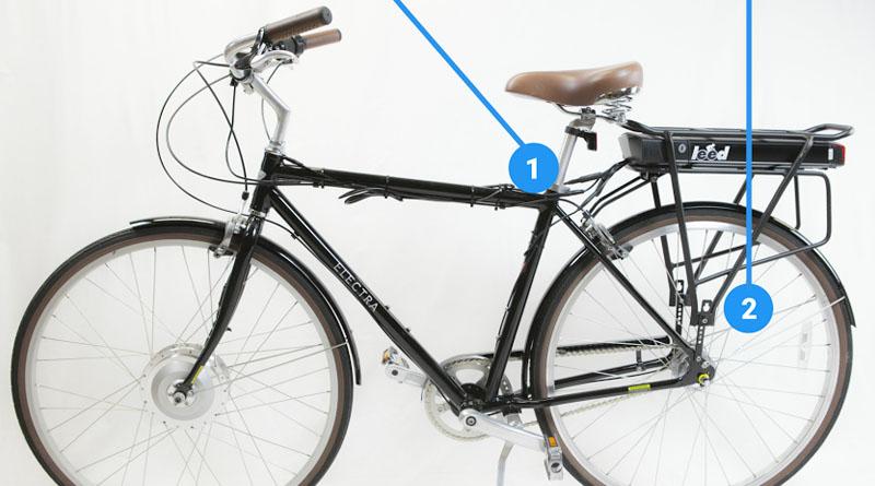 500 Watt Electric Bike Kit Rear Carrier Assembly