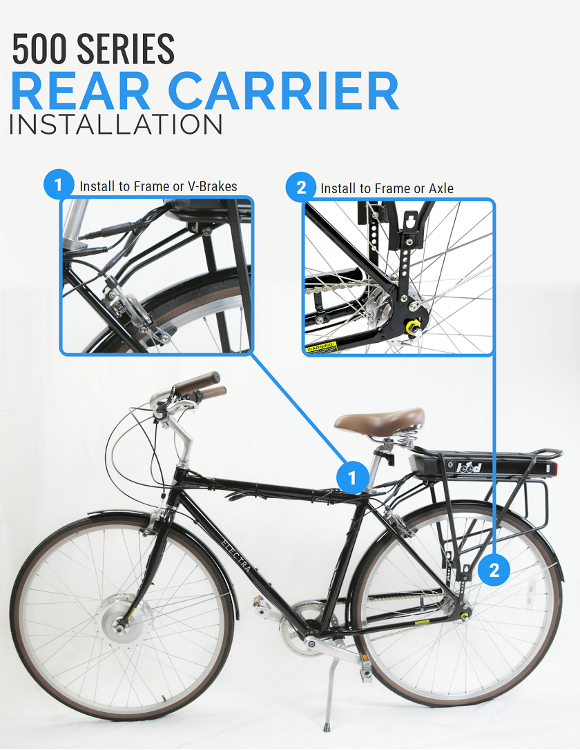 500S Electric Bike Kit Rear Carrier Installation Instructions