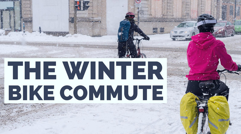 commuting by bicycle in winter
